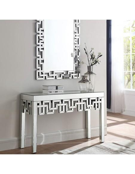 Console design en verre miroir