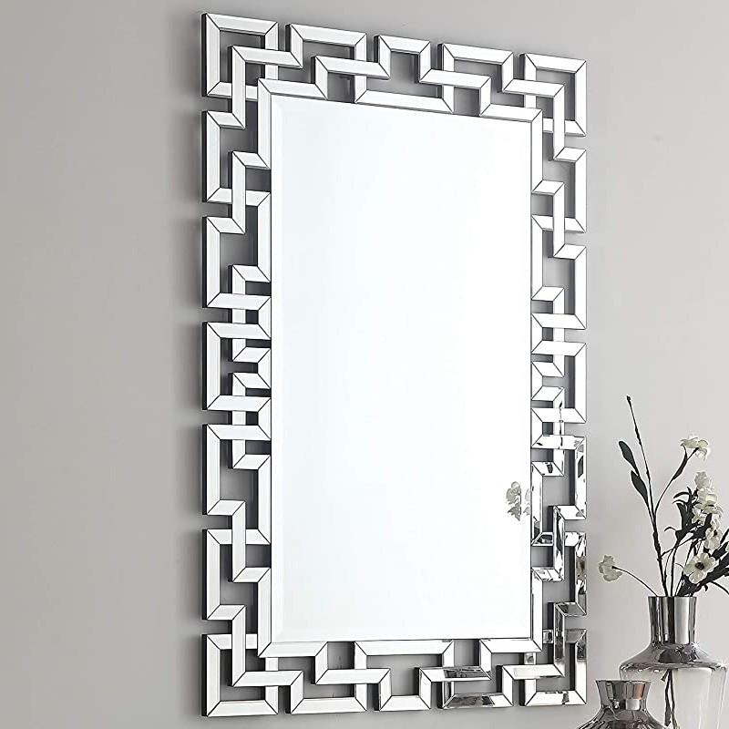 Juego de espejos de diseño de consola y cristal