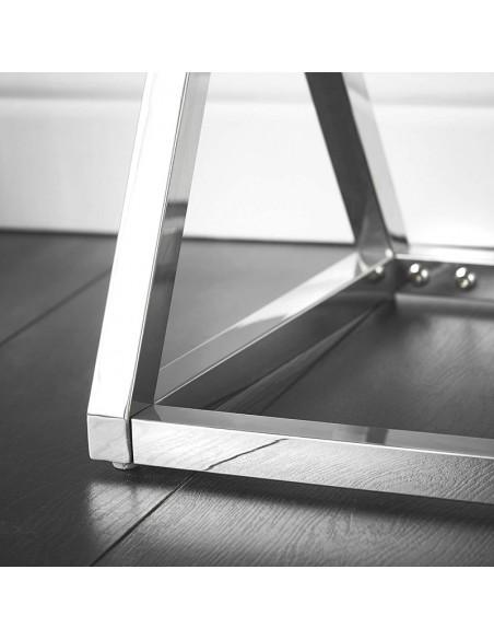 Console or rose en verre miroir 3D