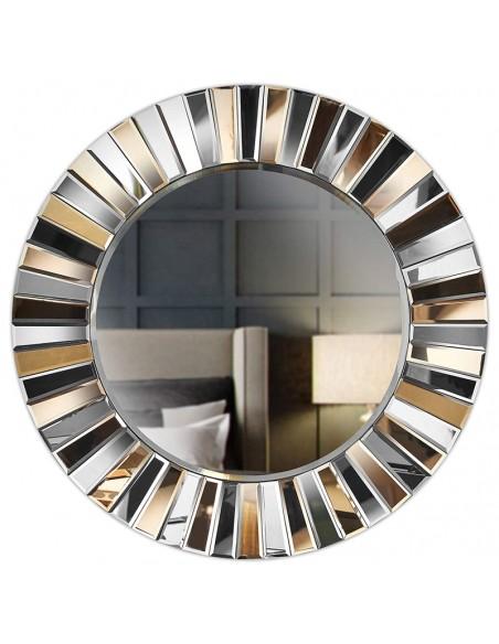 Miroir mural rond effet miroir 3D