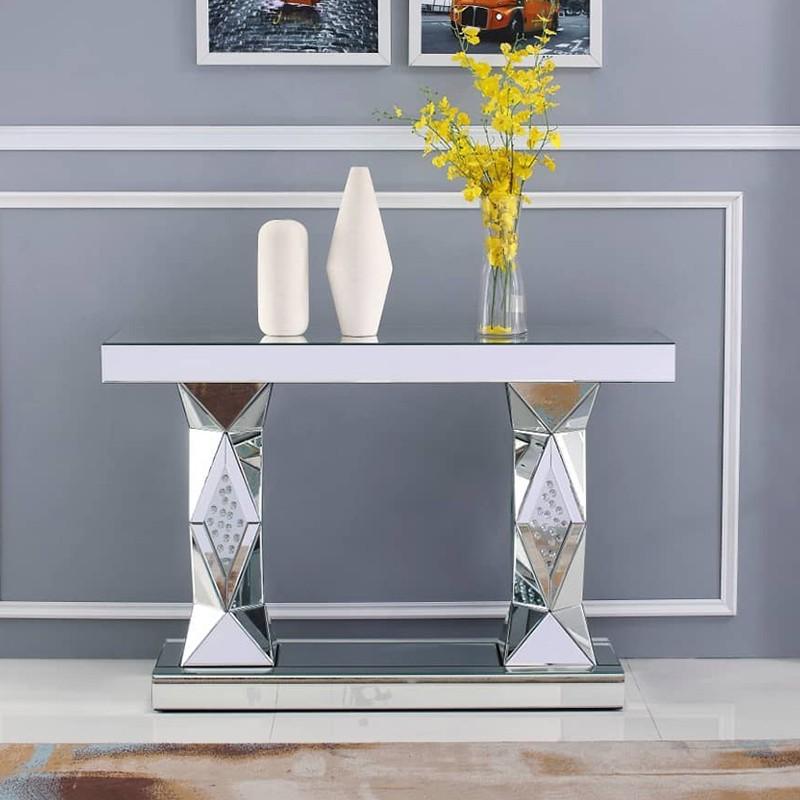 Console en verre miroir ORIENT