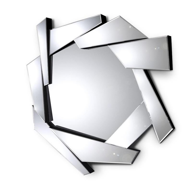 Grande specchio rotondo da parete PYRAMIDE