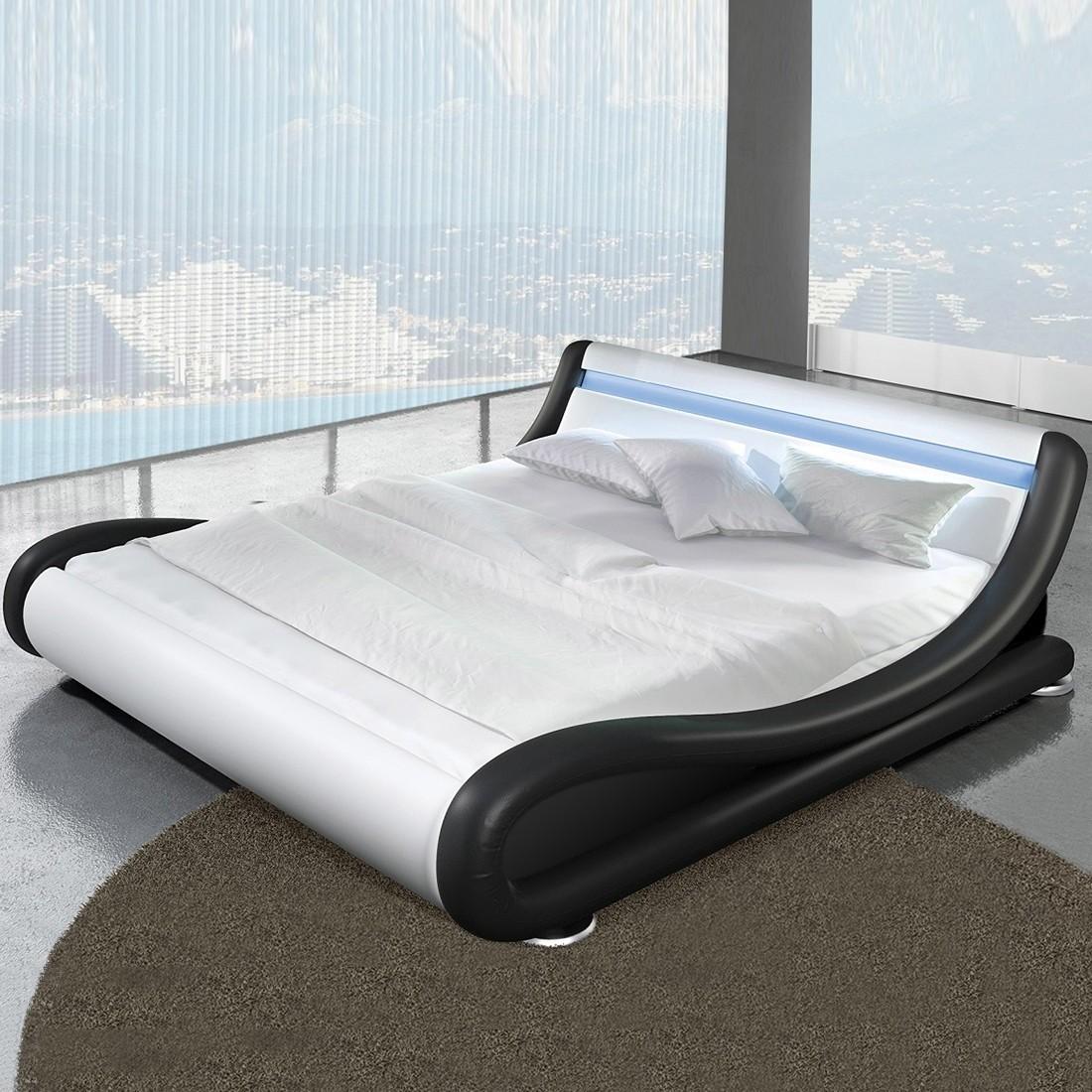Lit design led avec sommier julia - Led pour lit ...