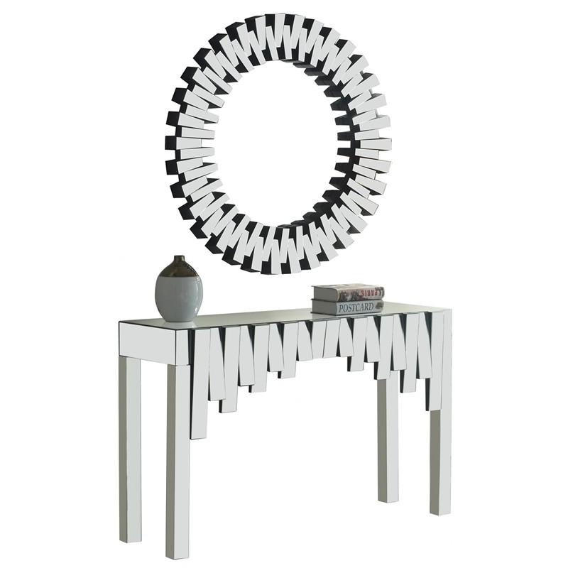 Console et miroir design verre miroir design ECLIPSE