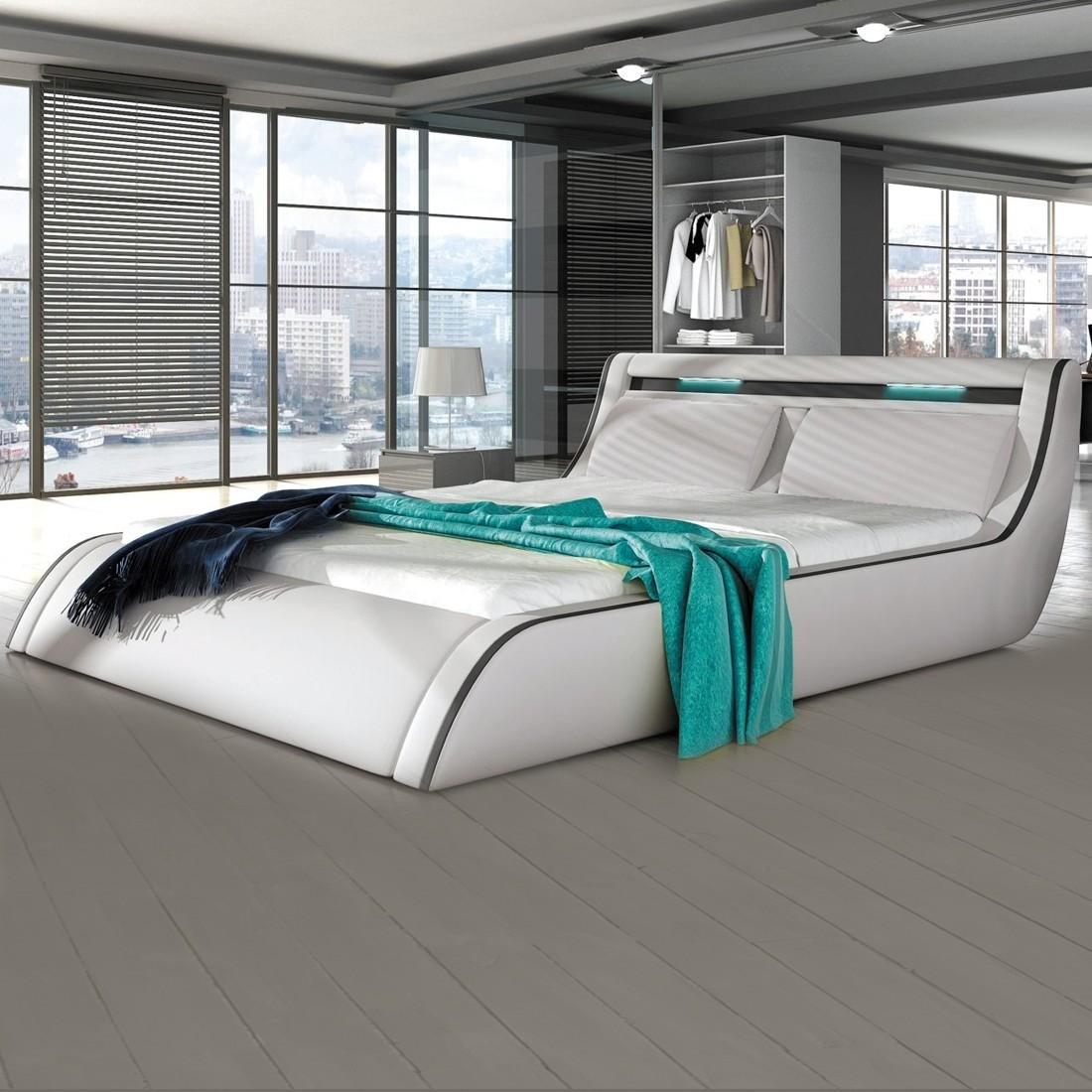lit led design planet avec sommier relevable. Black Bedroom Furniture Sets. Home Design Ideas
