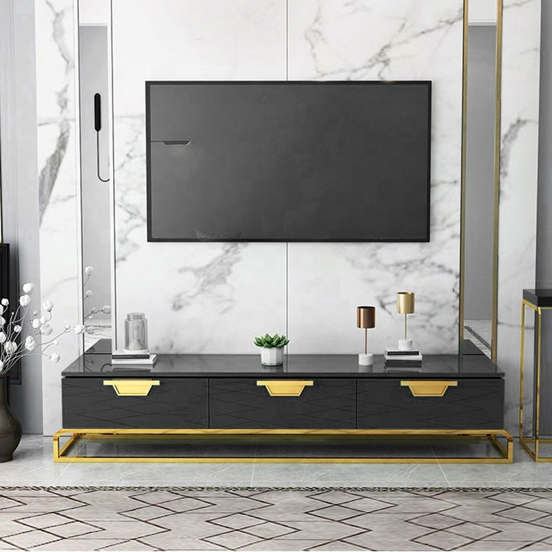 Meuble tv design pieds or Oro
