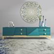 Soporte de TV de diseño azul y dorado Azur