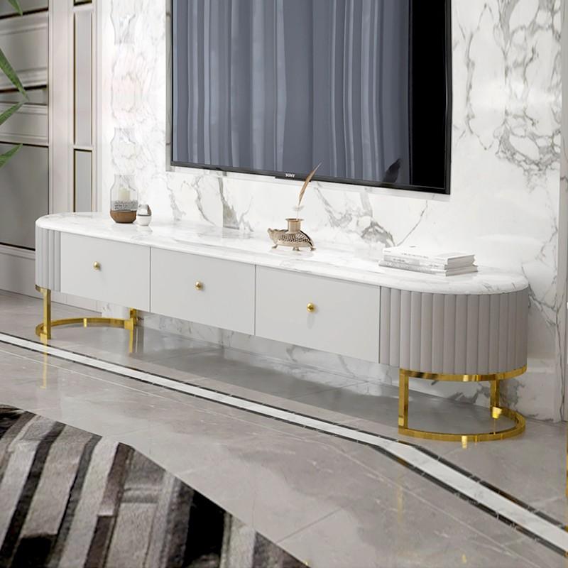 Mueble de televisión de mármol artificial Lucia