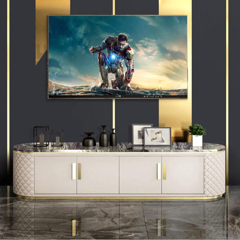 Meuble tv effet marbre et simili cuir Rufus