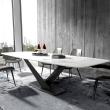 Mesa de comedor de mármol artificial blanco Alto
