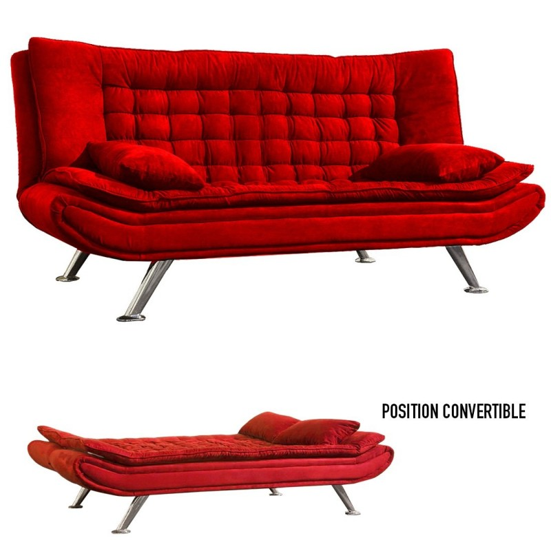 Canape convertible rouge canap convertible design rouge - Canape clic clac rouge ...