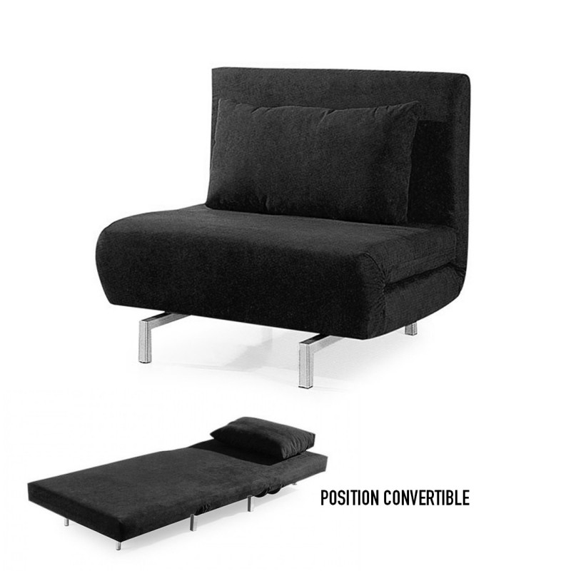 fauteuil convertible obadia en tissu. Black Bedroom Furniture Sets. Home Design Ideas
