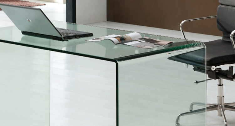 Table de bureau en verre