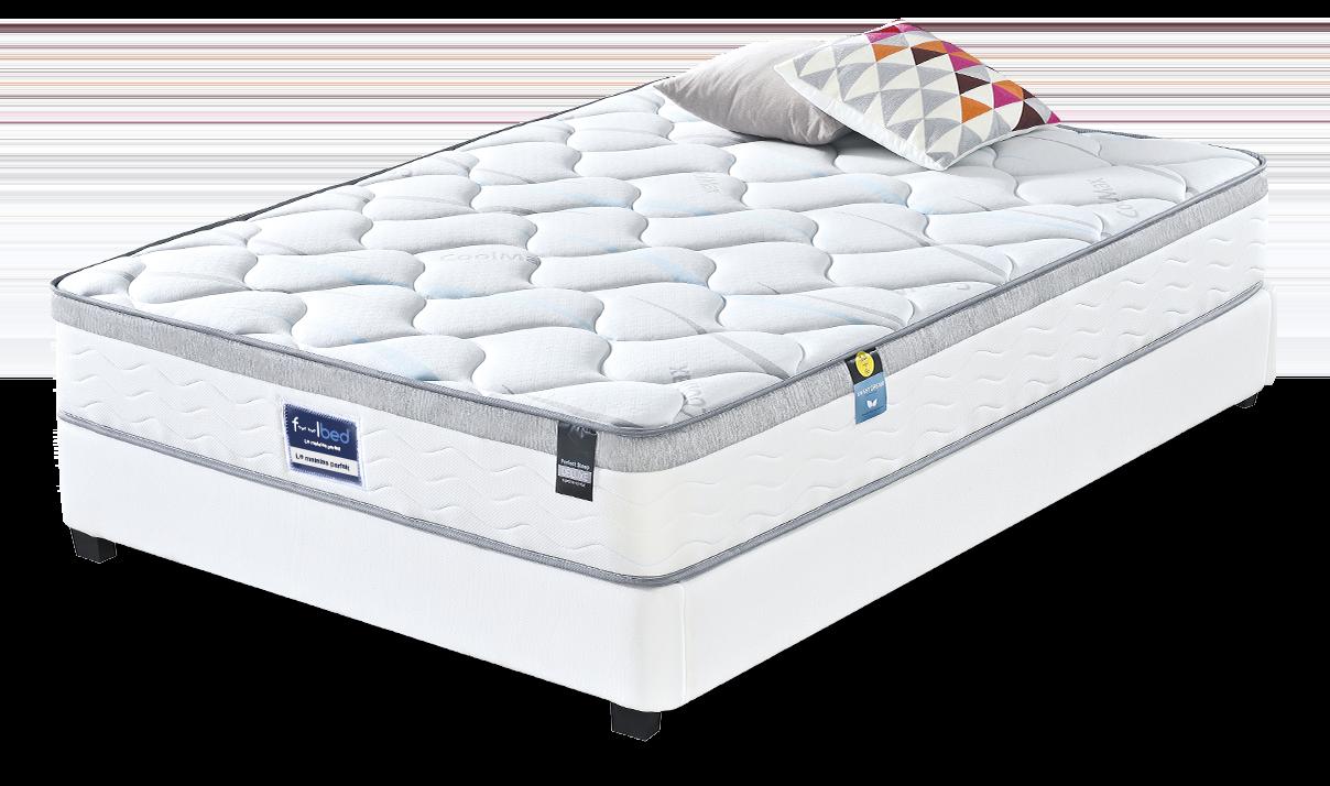 lit double 160 avec rangement et matelas lit atlantic. Black Bedroom Furniture Sets. Home Design Ideas