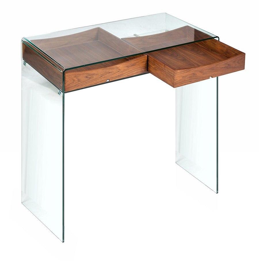 console design en verre et bois glasswood. Black Bedroom Furniture Sets. Home Design Ideas