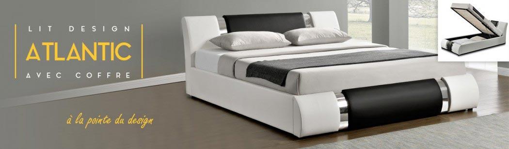 lit design atlantic avec coffre rangement