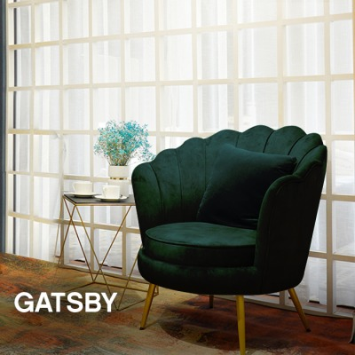 FAUTEUIL ARRONDI PIED OR GATSBY